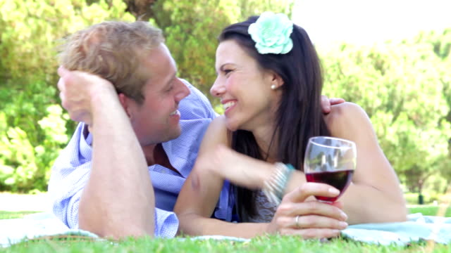 Romantic Couple Enjoying Picnic Together video
