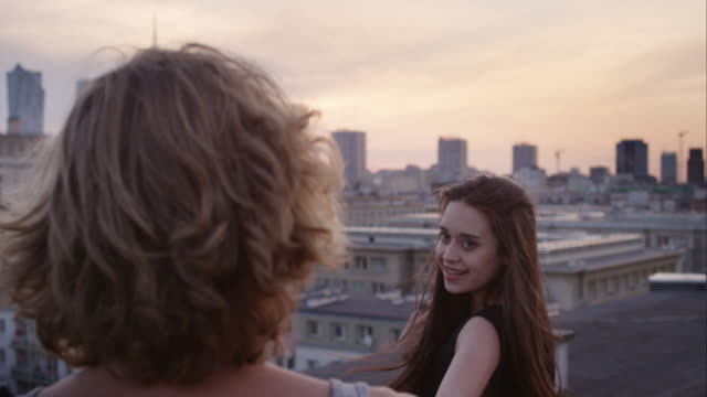 Romantic couple on roof video