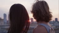 Romantic couple on roof video