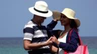 Romantic Couple On Summer Vacation video