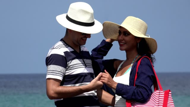 Romantic Couple On Summer Vacation video