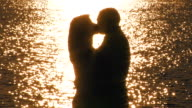 Romantic couple on the beach. video