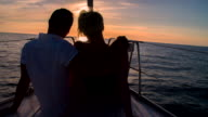 MS Romantic Couple Sailing At Sunset video