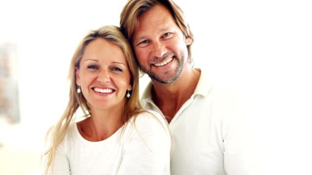 Romantic couple smiling video