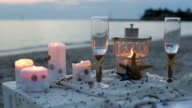 Romantic decoration on the sea side video