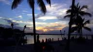 Romantic dream beach in the evening like paradise video