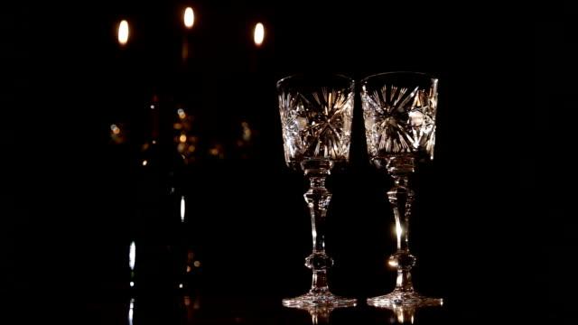 Romantic evening with wine video