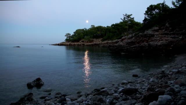 A romantic full moon rise video