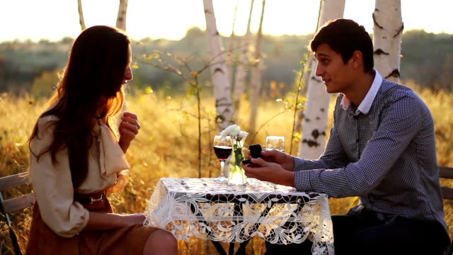 Romantic Marriage Proposal Forest Date video