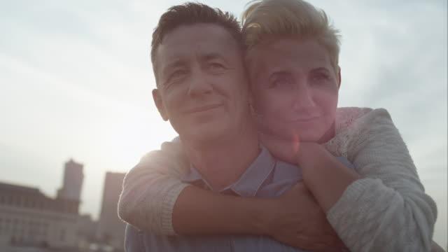 Romantic middle age couple video