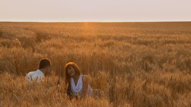 HD: Romantic Moment In Wheat video