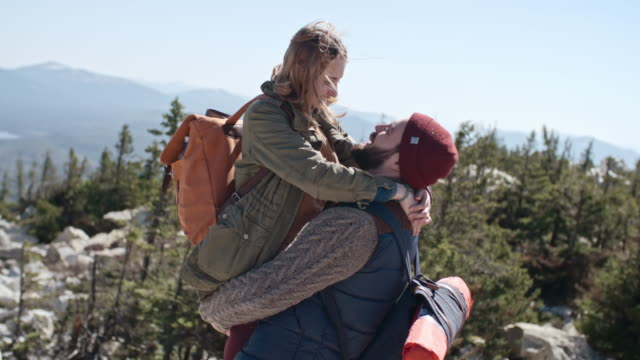 Romantic Moment on Hiking Trip video