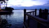 Romantic pier in Islamorada in the late evening video