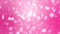 Romantic pink holiday background with bokeh lights video