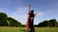Romantic scene in Paris video