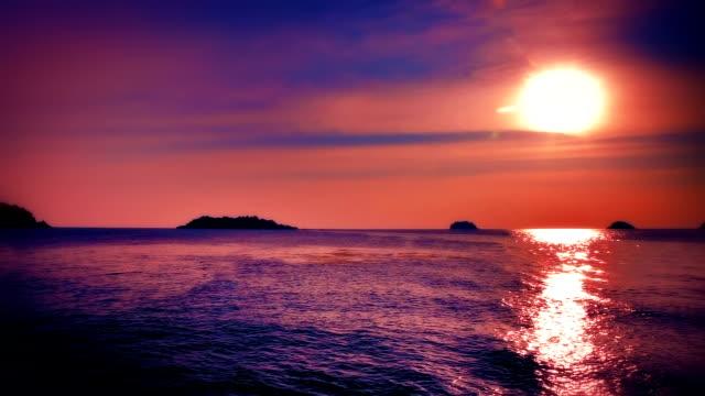 Romantic sunset video