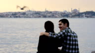 Romantic young couple in Istanbul video