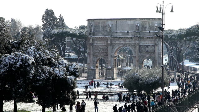 rome arch of constantine video