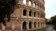 Rome Colisseum - a popular landmark in the city video