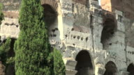 Rome, Colosseum: architectural detail video