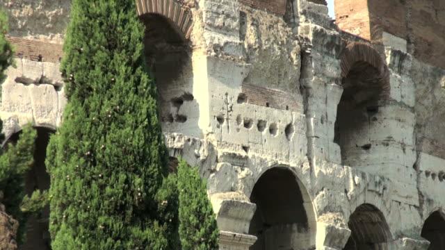 Rome, Colosseum: architectural detail video