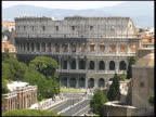 Rome Colosseum / Coliseum: Outer Wall And Street. Italy video