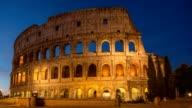 Rome Colosseum timelapse before sunrise (Rome Coliseum), Rome, Italy, 4K Time lapse video