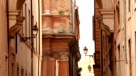 Rome - Italy fasades of buildings and street lamps video