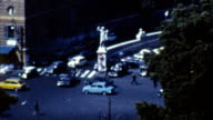 Rome, Italy Traffic (Old Film - Archival 1960s) video