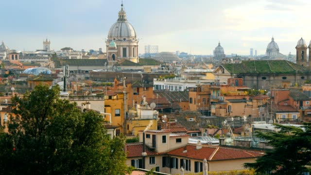 Rome skyline, Italy. Panning shot video