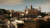 Rome Skyline Panning Video video