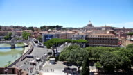 Rome Tiber skyline video