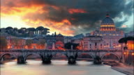Rome - Vatican at sunset,time lapse video