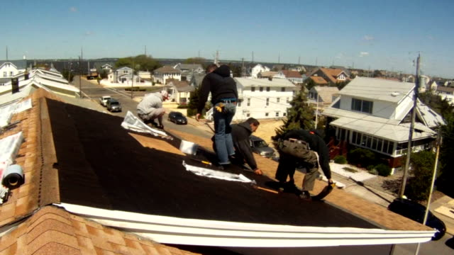 Roofing - Laying Shingles Time Lapse video