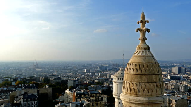 Rooftop and aerial view from Basilica Sacre Coeur, Paris video