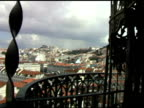 Rooftops and Plaza in Lisbon Portugal video