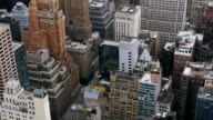 Rooftops and skyscraper in Manhattan New York video