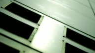 Room with a ventilation grilles close-up video
