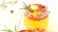 Rosemary cranberry white sangria with apples video
