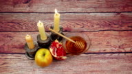 Rosh Hashanah celebration. Jewish New Year Holiday video
