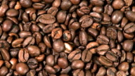 Rotated coffee beans video