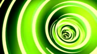 Rotated twisted green tunnel. video