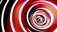 Rotated twisted red tunnel. Loop animation. video