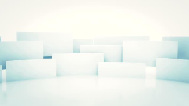 Rotating 3d squares seamless loop video
