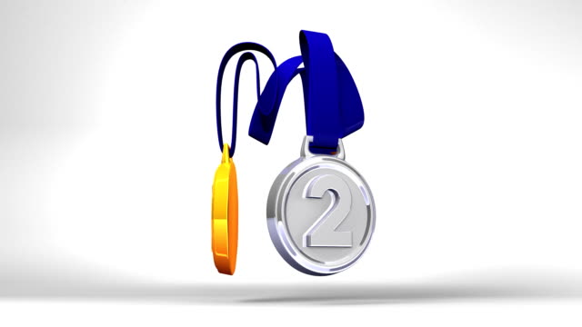 Rotating 3Medals On White Background video
