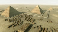 Rotating above Giza platform Egypt. Loop-able video