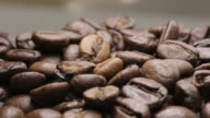 Rotating beans of coffee video