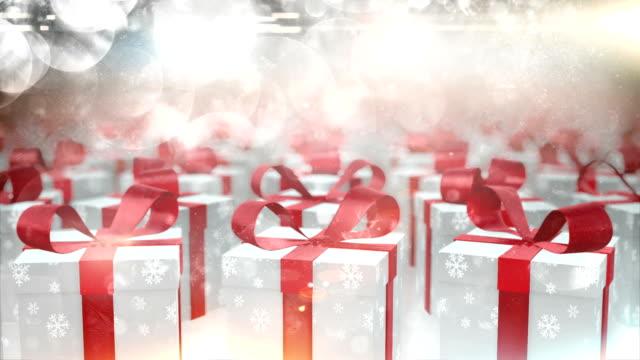 Rotating christmas presents (silver) - Loop video