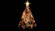 Rotating Christmas Tree Animation - Loop Golden video