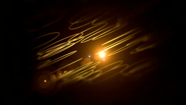 Rotating Circle Shapes With Lens Flare Effects Background Animation video